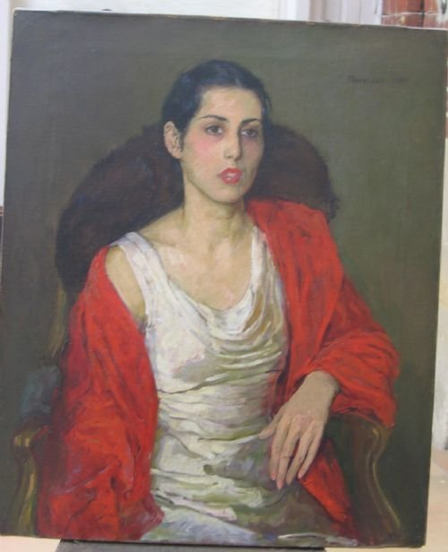 soldportrait of a lady 1931 by flora lion