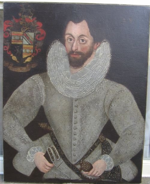 soldportrait of a gentleman of the weaver family c15901610 british school