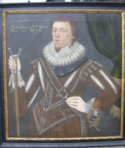 soldportrait of nicholas fortescue1627 english school