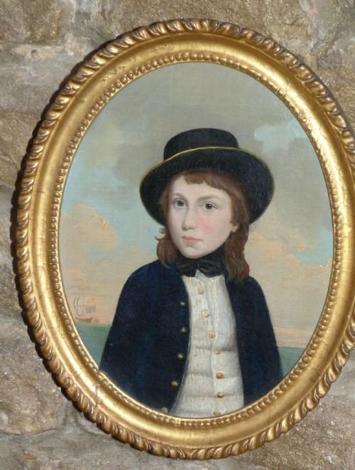 soldportrait of a young midshipman c1790 circle of lewis vaslet