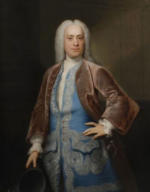 portrait of thomas wright 1739 by john theodore heins