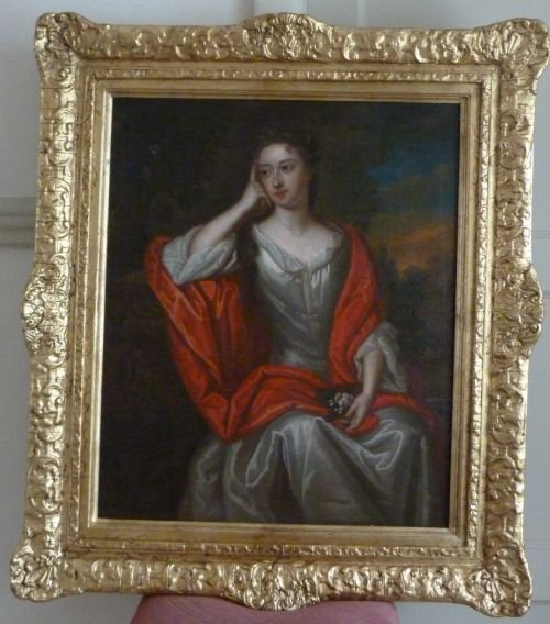 soldportrait of a lady c1720 follower of kneller