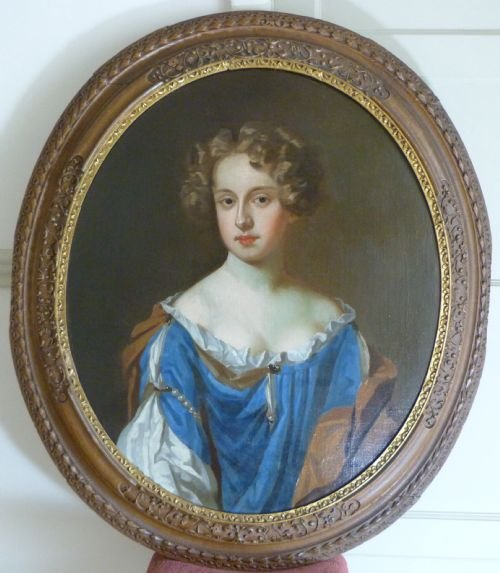 portrait of a lady of the popham family c1670 circle of wissing