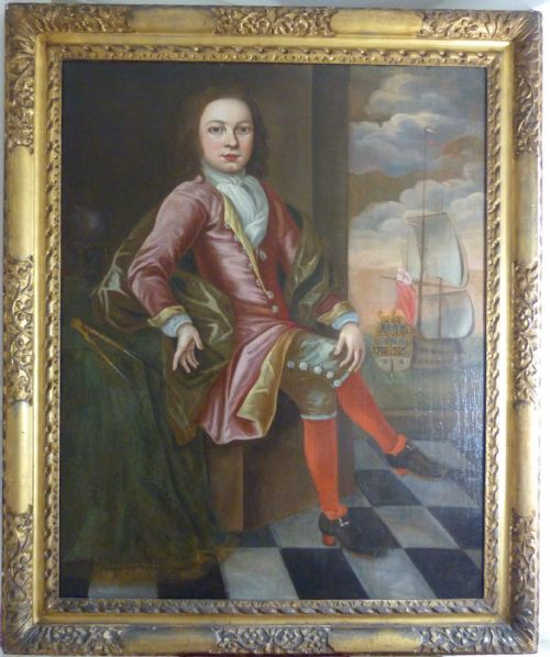 soldportrait of a gentleman of the pett or rolt family c1680 english school