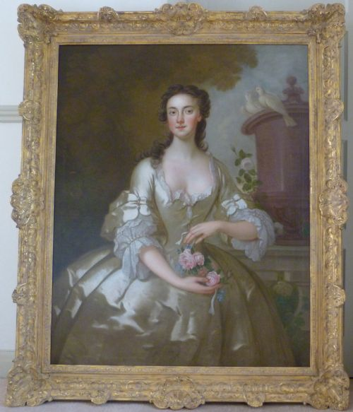soldportrait of a lady of the orlebar family c1735 by john vanderbank