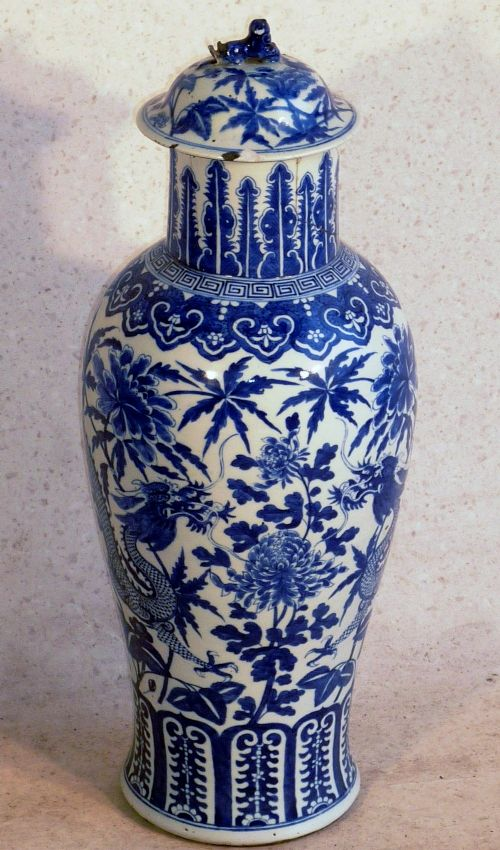 large chinese qianlong dynasty 173695 blue and white vase