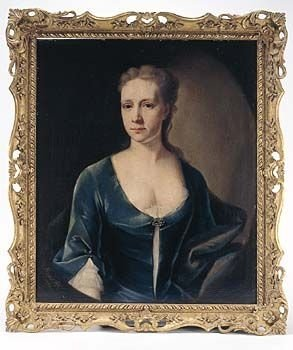 soldportrait of a lady in blue by heins 1731