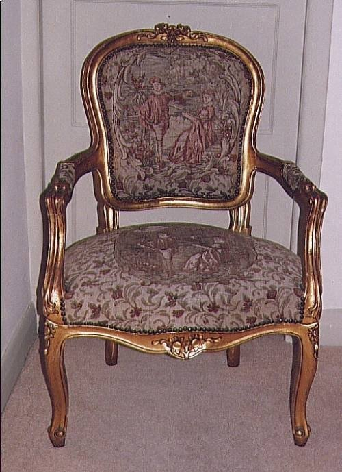 carved and giltwood chairs priced individually