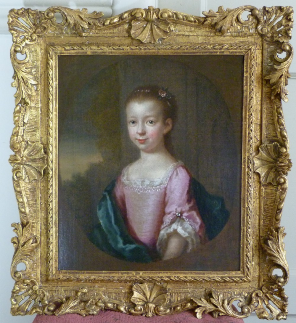portrait of a girl c1735 circle of joseph highmore