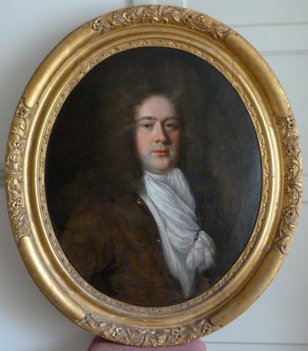 soldportrait of sir nathaniel johnson c1680 later governor of carolina attributed to john riley