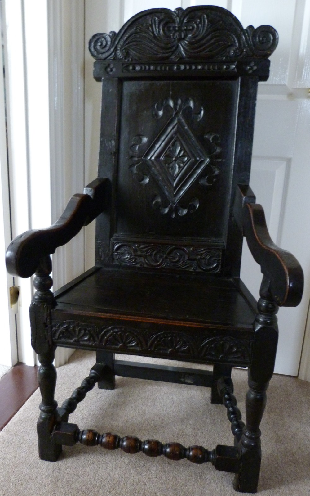oak wainscot chair c1660 and later