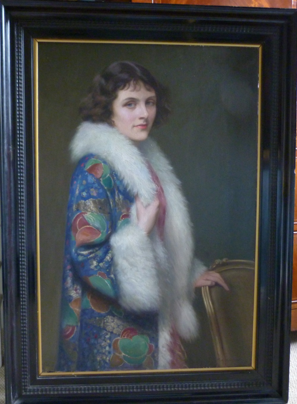 portrait of miss sharpe 1920s by thomas william holgate rba