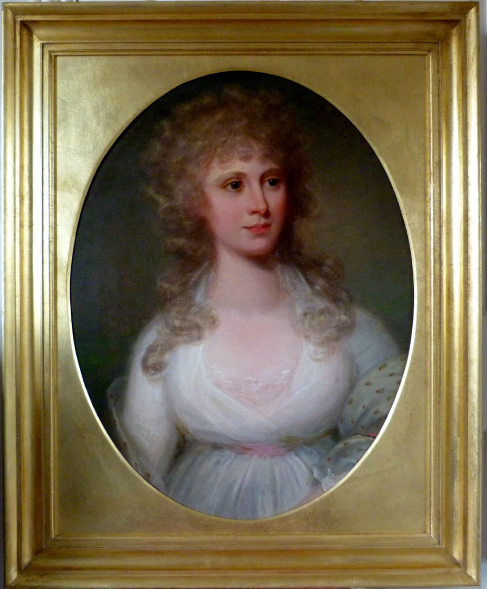 portrait of a young lady possibly elizabeth beauclerk c1786 circle of richard cosway