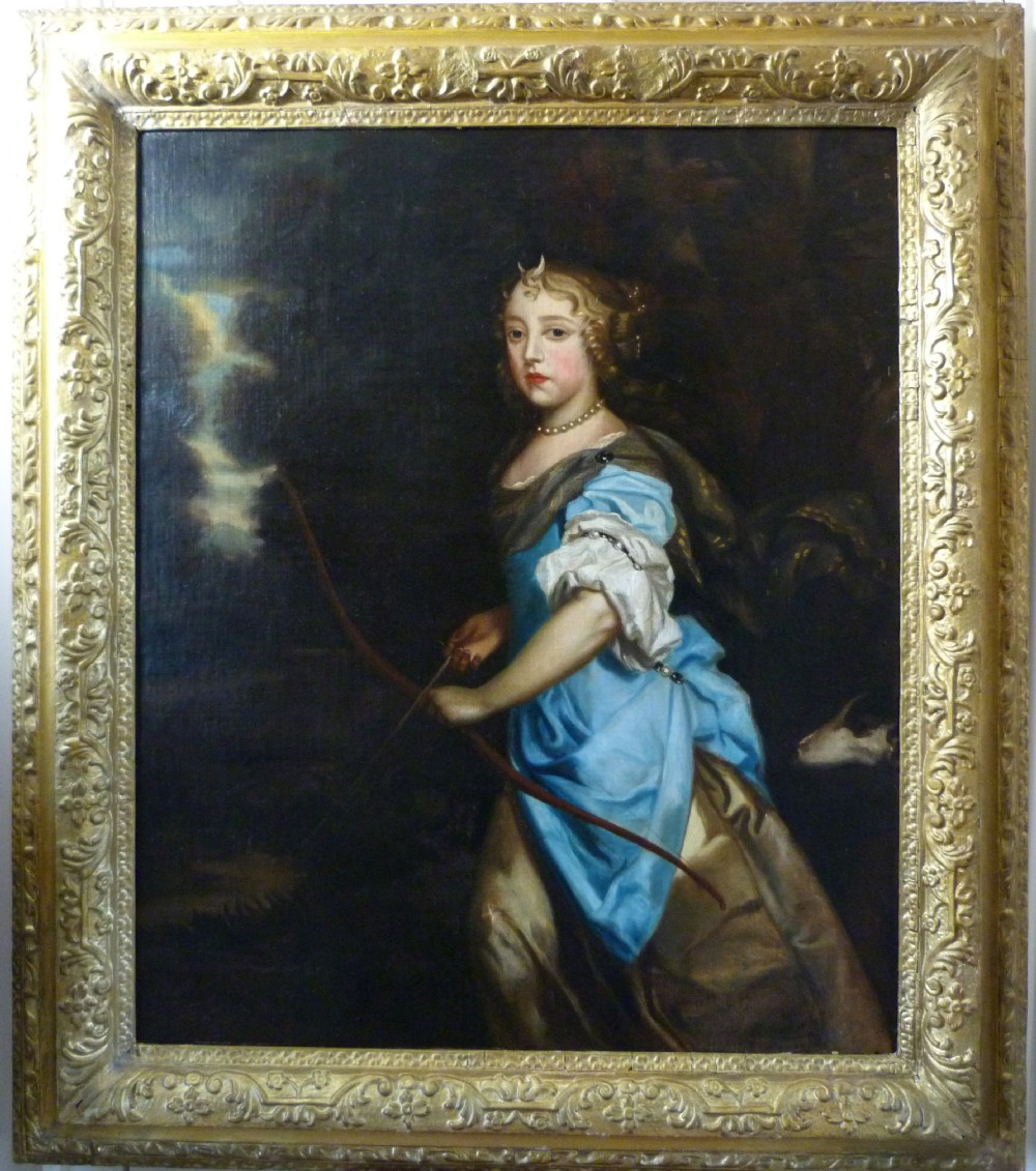 portrait of princess mary of york as diana goddess of the hunt after sir peter lely