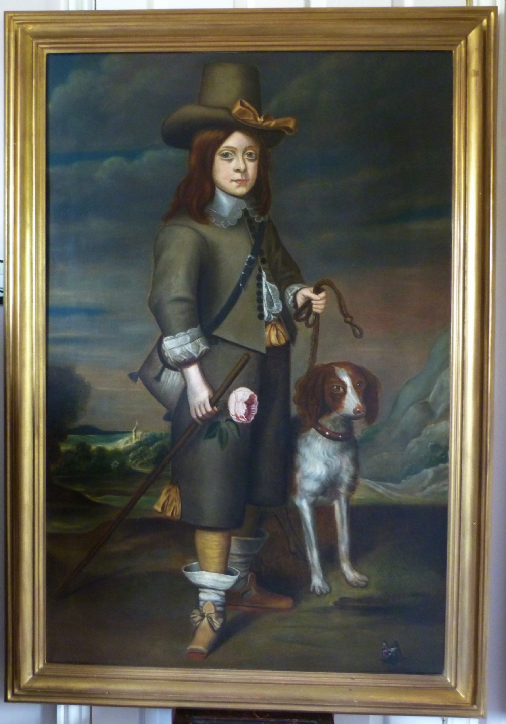 portrait traditionally said to be of sir jeffrey hudson 17th18th century after daniel mytens
