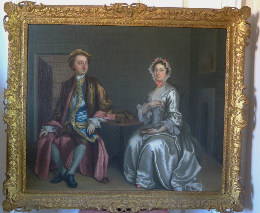 double portrait of a lady and gentleman c1740 attributed to francis hayman ra