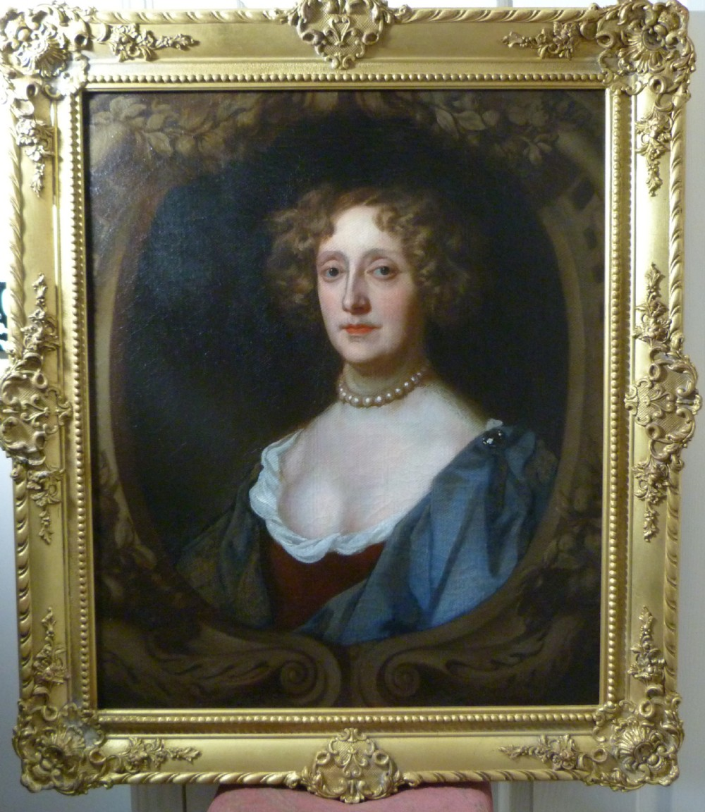 portrait of a lady c1680 circle of sir peter lely