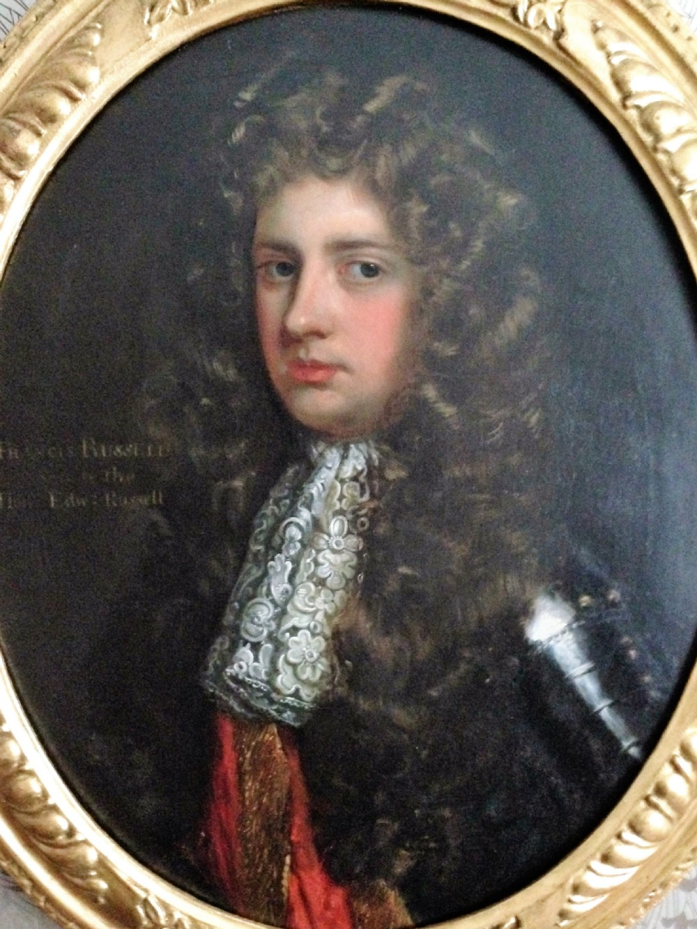 portrait of colonel francis russell c 1690 attributed to john riley