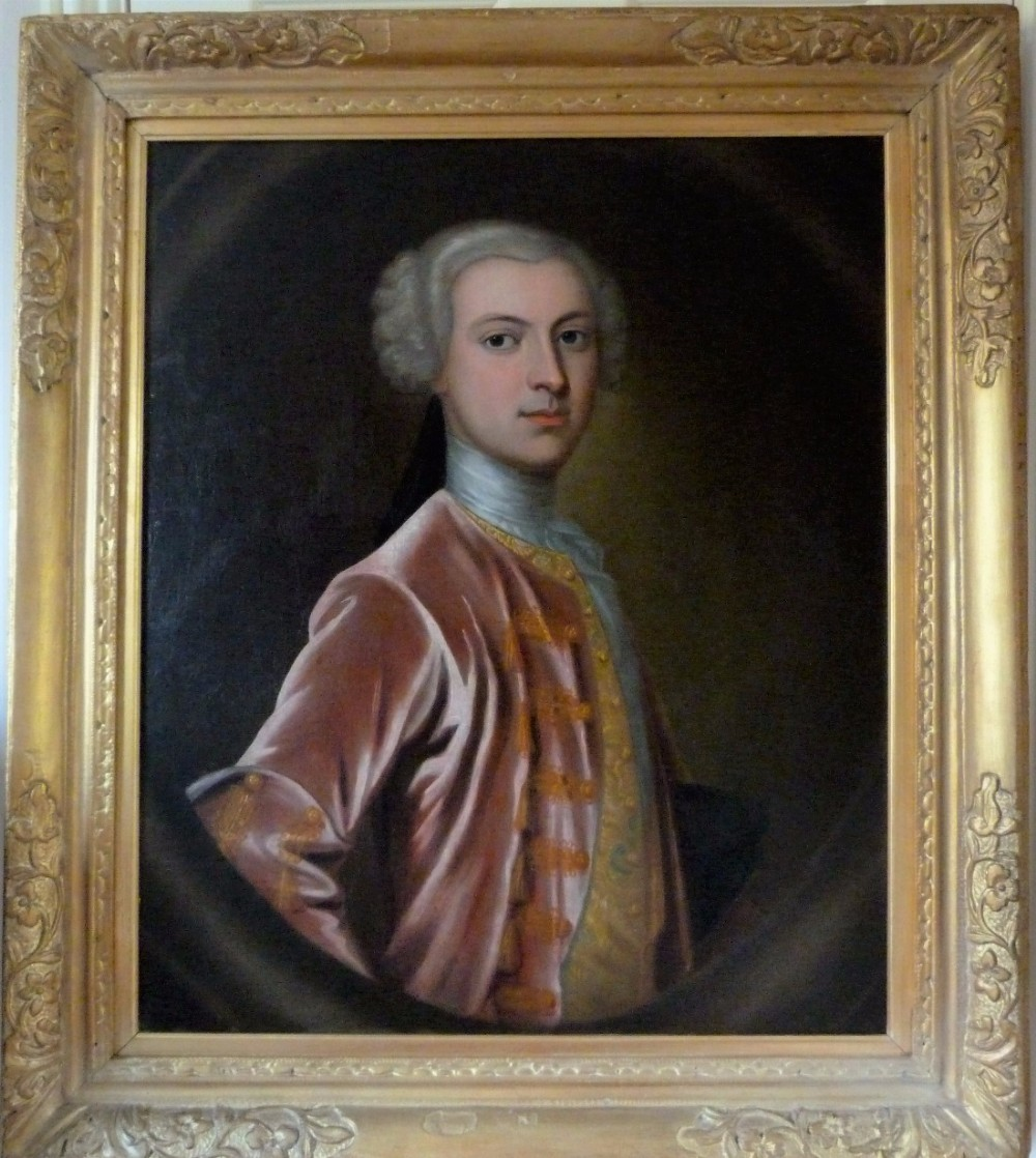 portrait of laurence oliphant 7th laird of gask c1745 follower of allan ramsay
