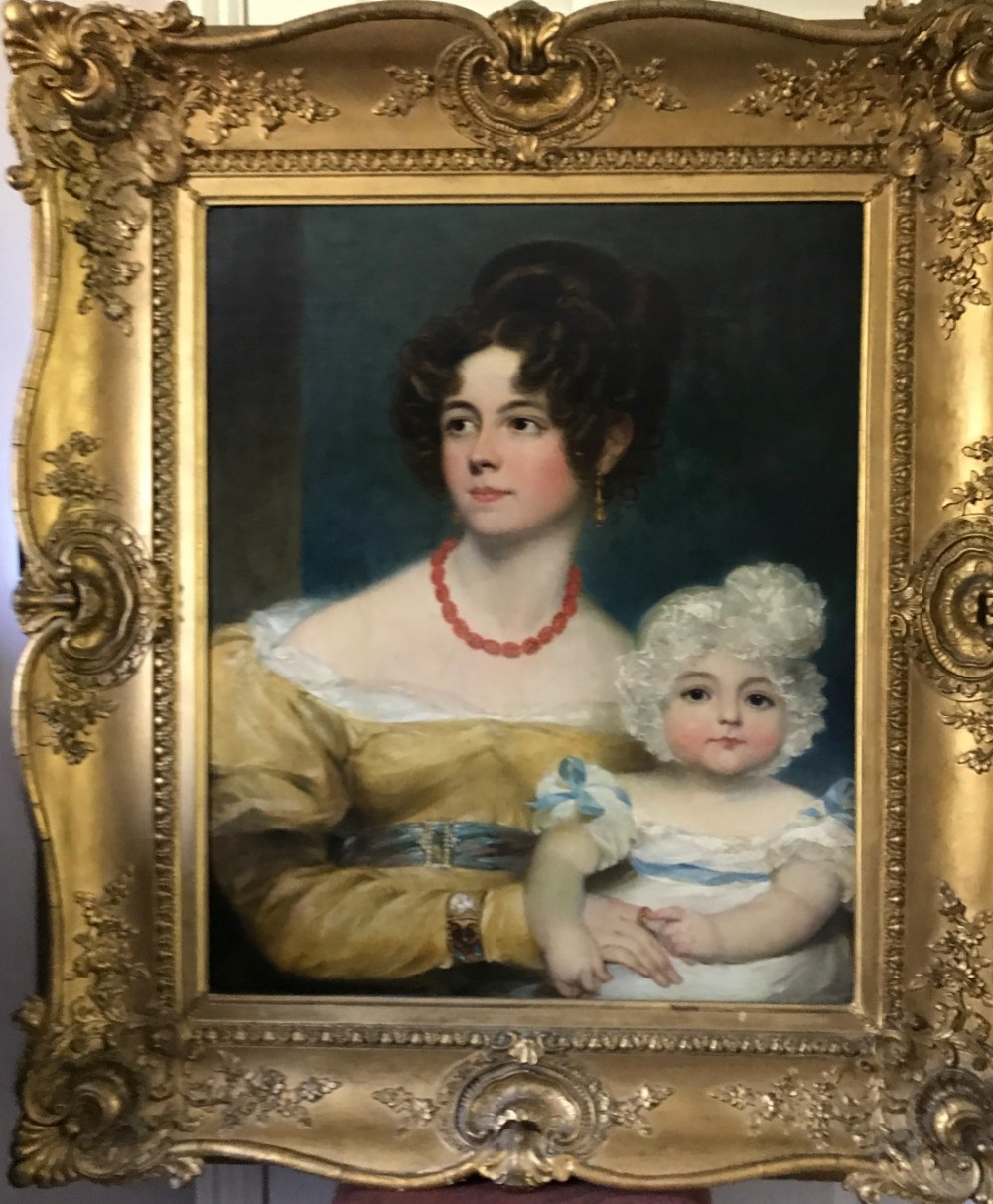 portrait of a lady and her child c1818 by george henry harlow