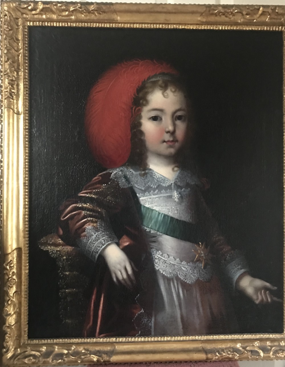 portrait of louis xiv as a boy c1642 circle or studio of charles beaubrun