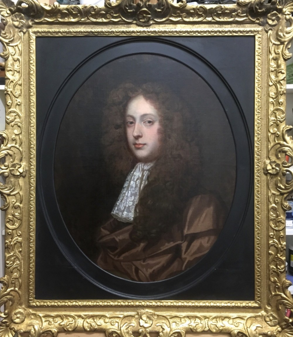 portrait of sir john leigh c1675 attributed to john greenhill