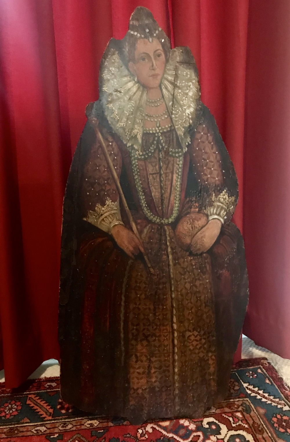 queen elizabeth i dummy board 18th19th century