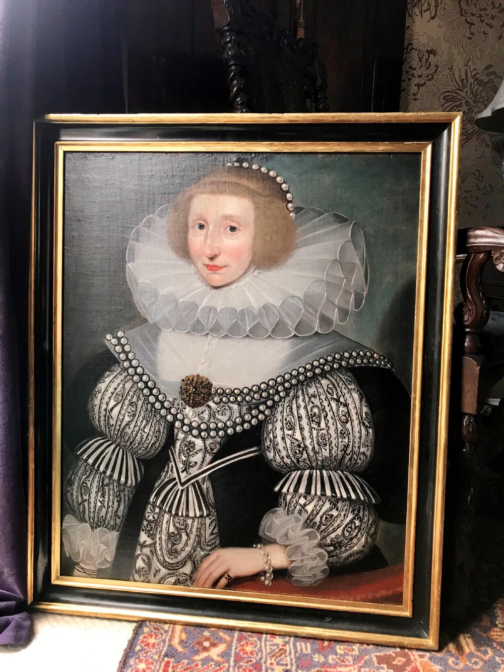 portrait of elizabeth wentworth c1620 circle of marcus gheeraerts