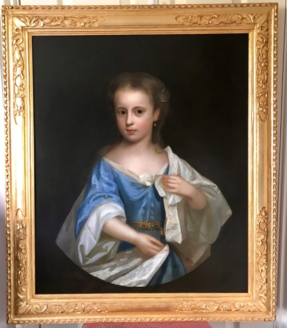 portrait of miss catherine johnson 1710 by anthony russel