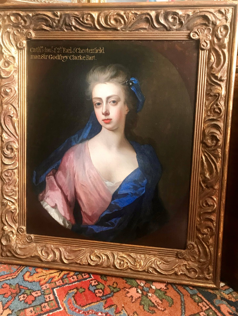 portrait of lady catherine stanhope c1706 by michael dahl