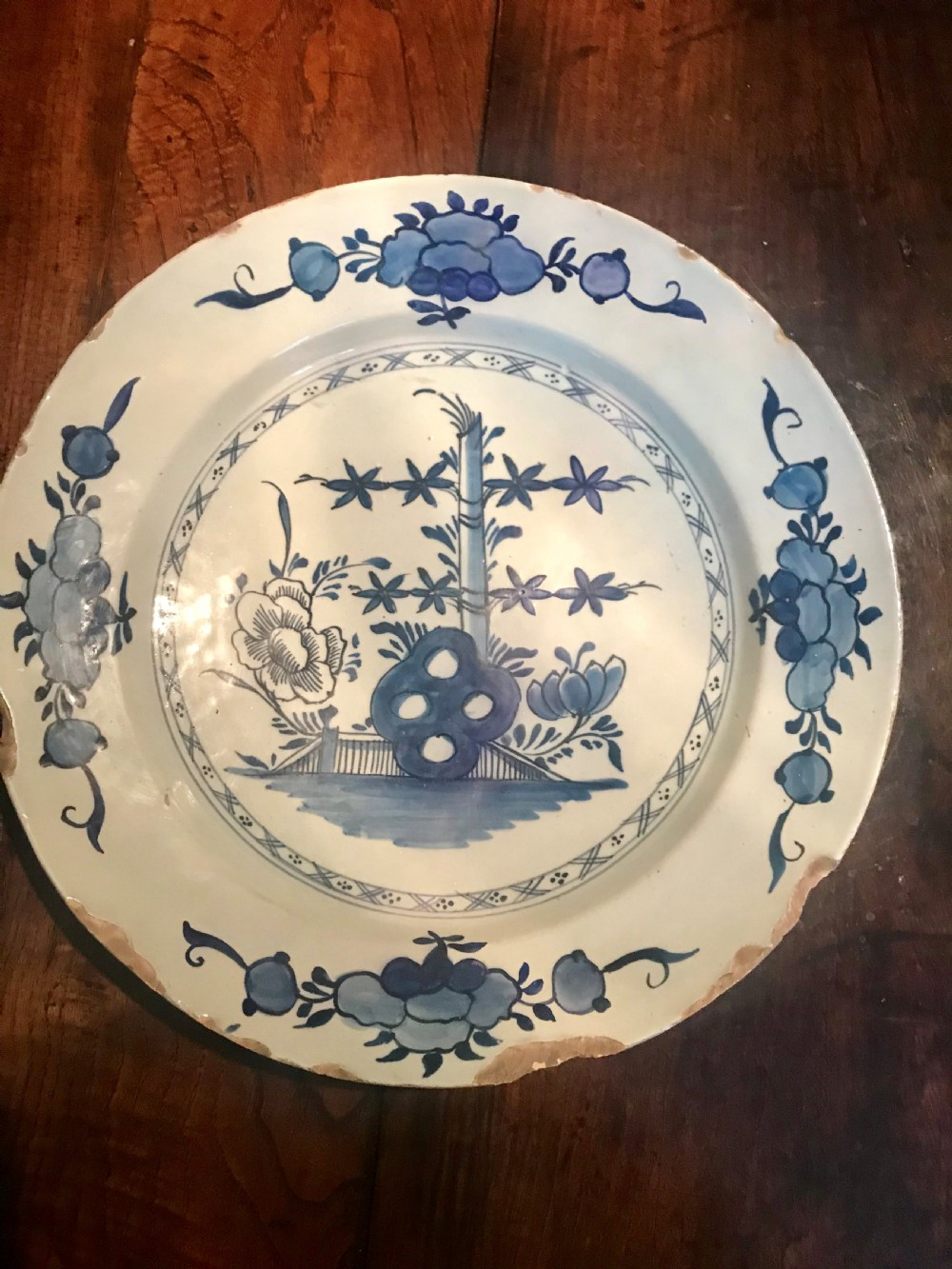 dutch delft charger 18th century