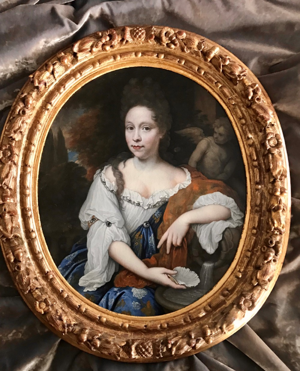 portrait of catharina margaretha beck c1695 attributed to johannes van haensbergen