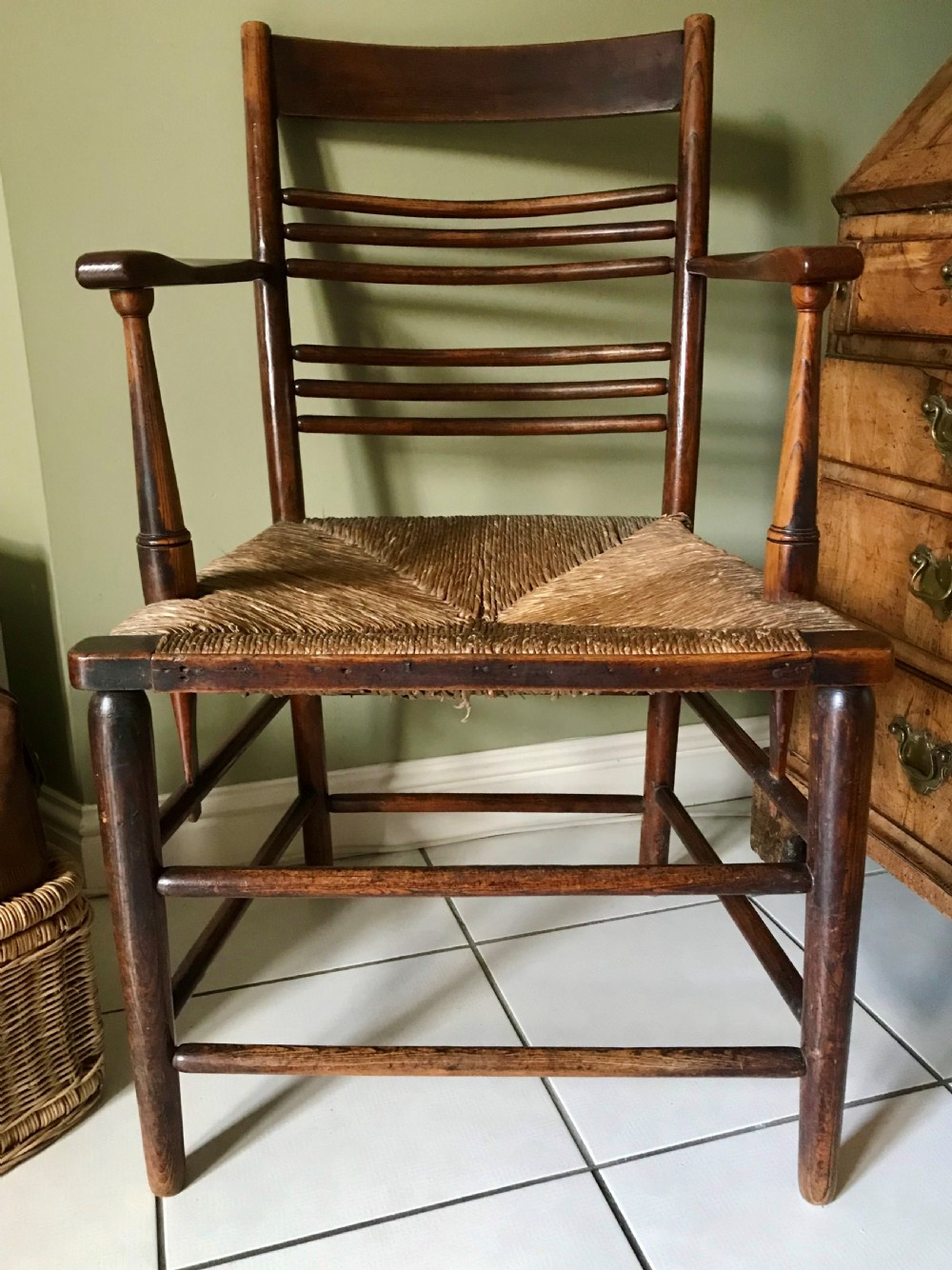 arts and crafts armchair c1890
