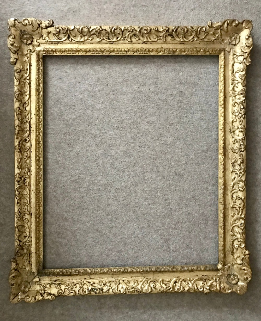 carved wood and gilt frame c1750
