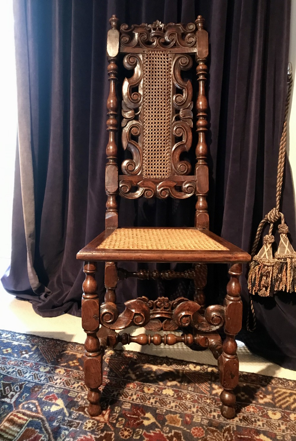 a carved james ii chair c1685